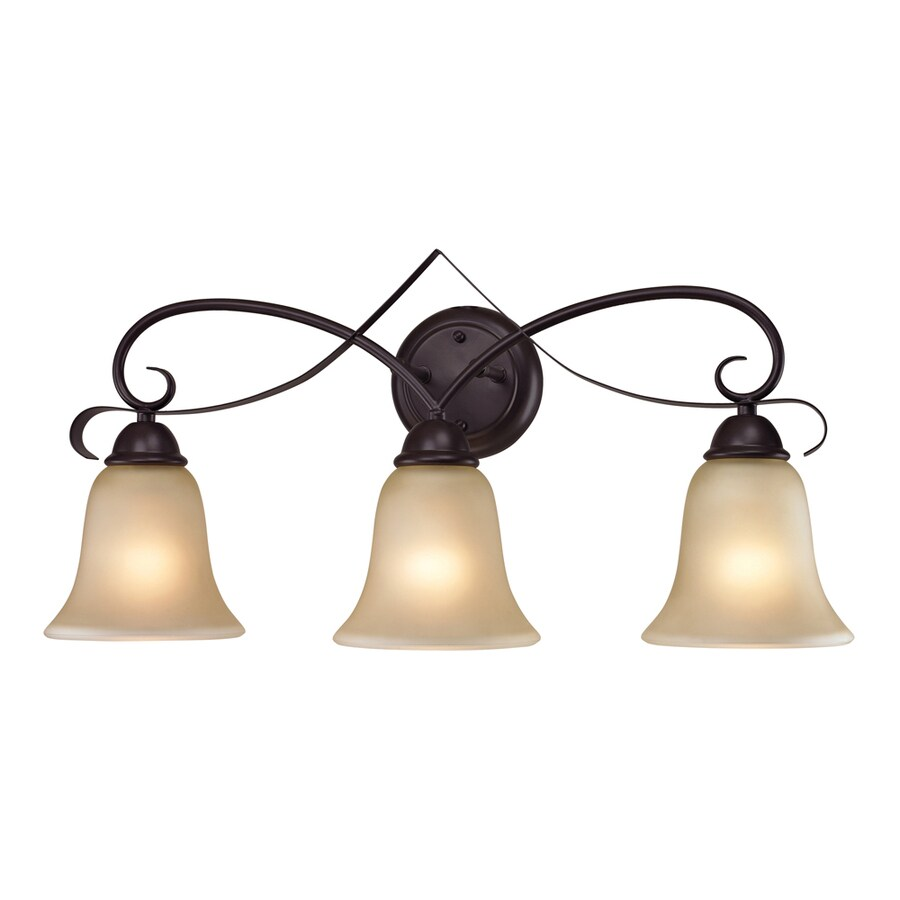 Westmore Lighting Colchester 3-Light 12-in Oil Rubbed Bronze Bell LED Vanity Light