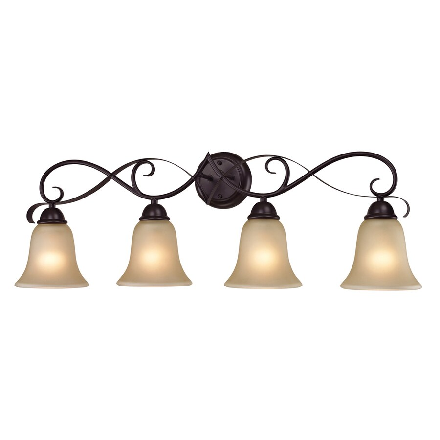 Westmore Lighting Colchester 4-Light 11-in Oil Rubbed Bronze Bell LED Vanity Light