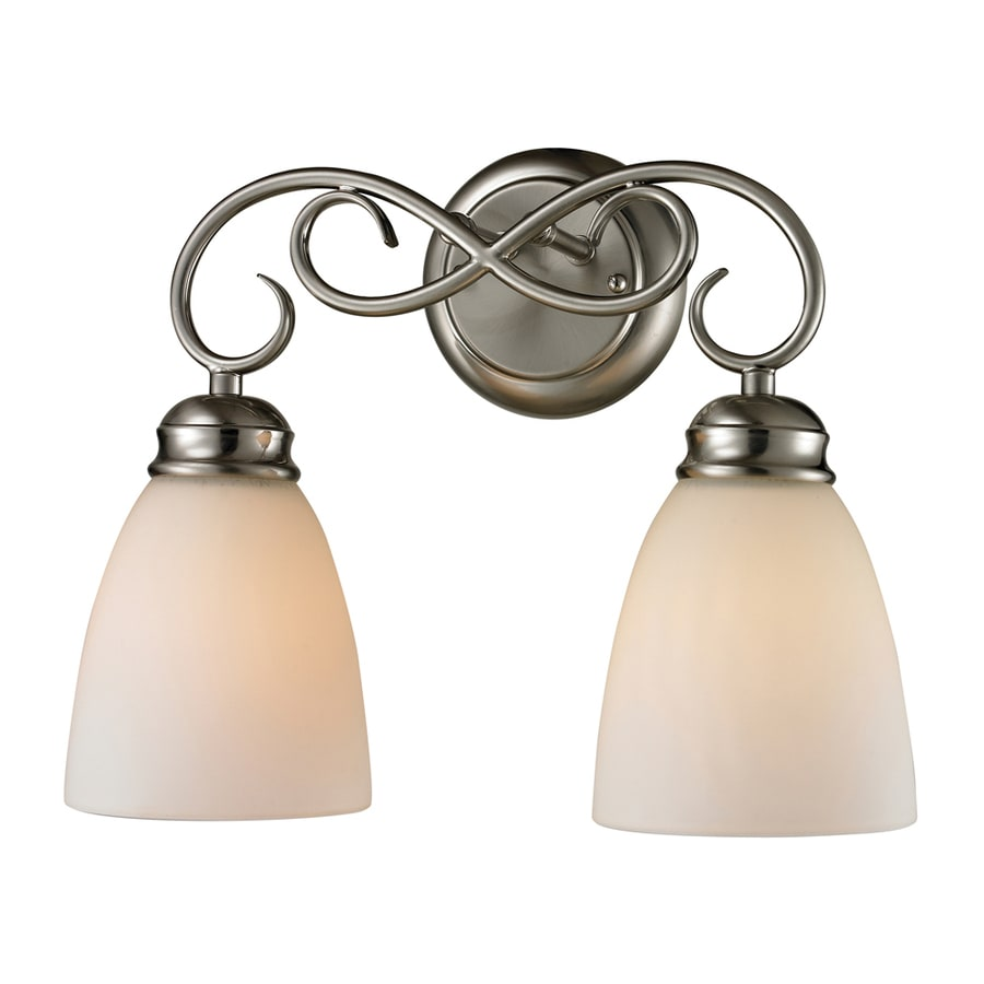 Westmore Lighting Sunbury 2-Light 11-in Brushed nickel Oval Vanity Light