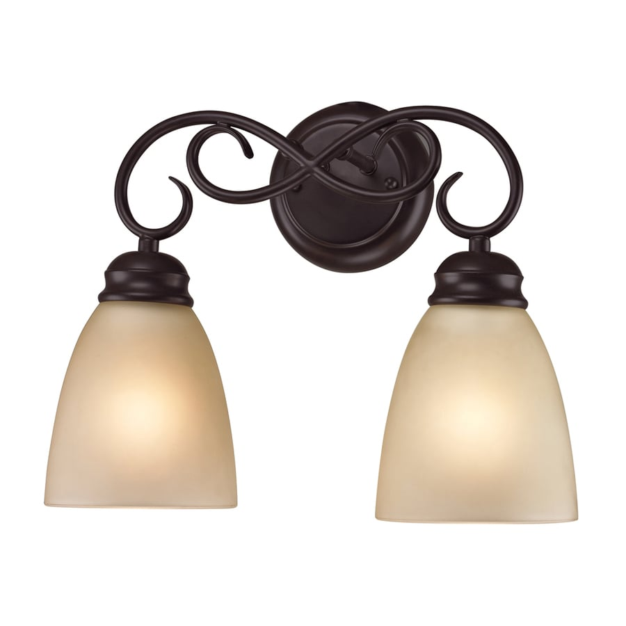 Westmore Lighting Sunbury 2-Light 11-in Oil Rubbed Bronze Oval Vanity Light