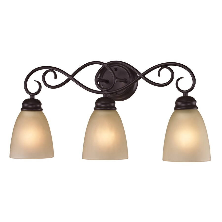 Shop Westmore Lighting Sunbury 3-Light 11-in Oil Rubbed Bronze Oval Vanity Light at Lowes.com