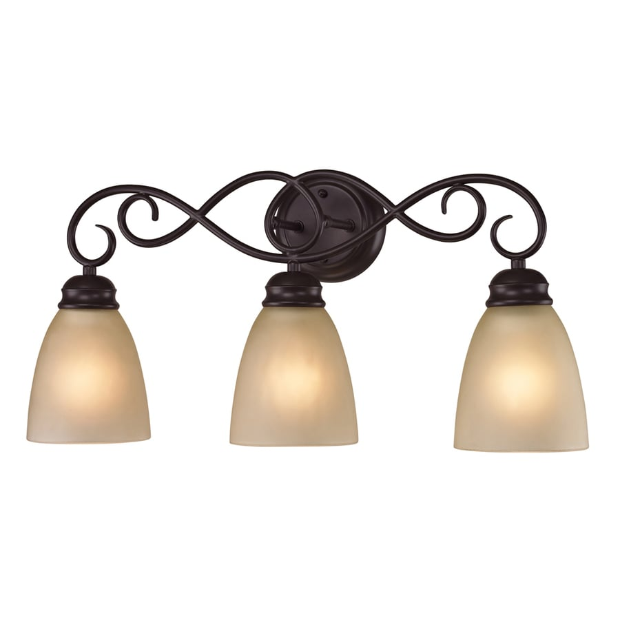Westmore Lighting Sunbury 3-Light 11-in Oil Rubbed Bronze Oval LED Vanity Light