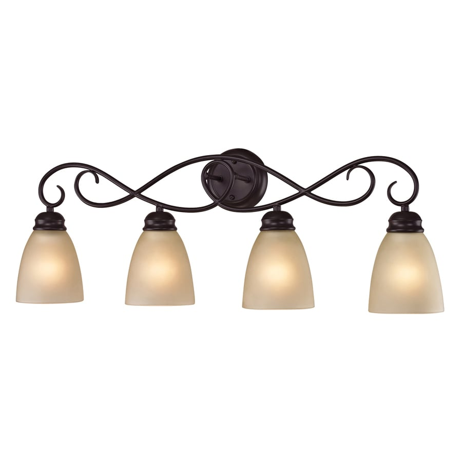 Westmore Lighting Sunbury 4-Light 11-in Oil Rubbed Bronze Oval Integrated LED Vanity Light