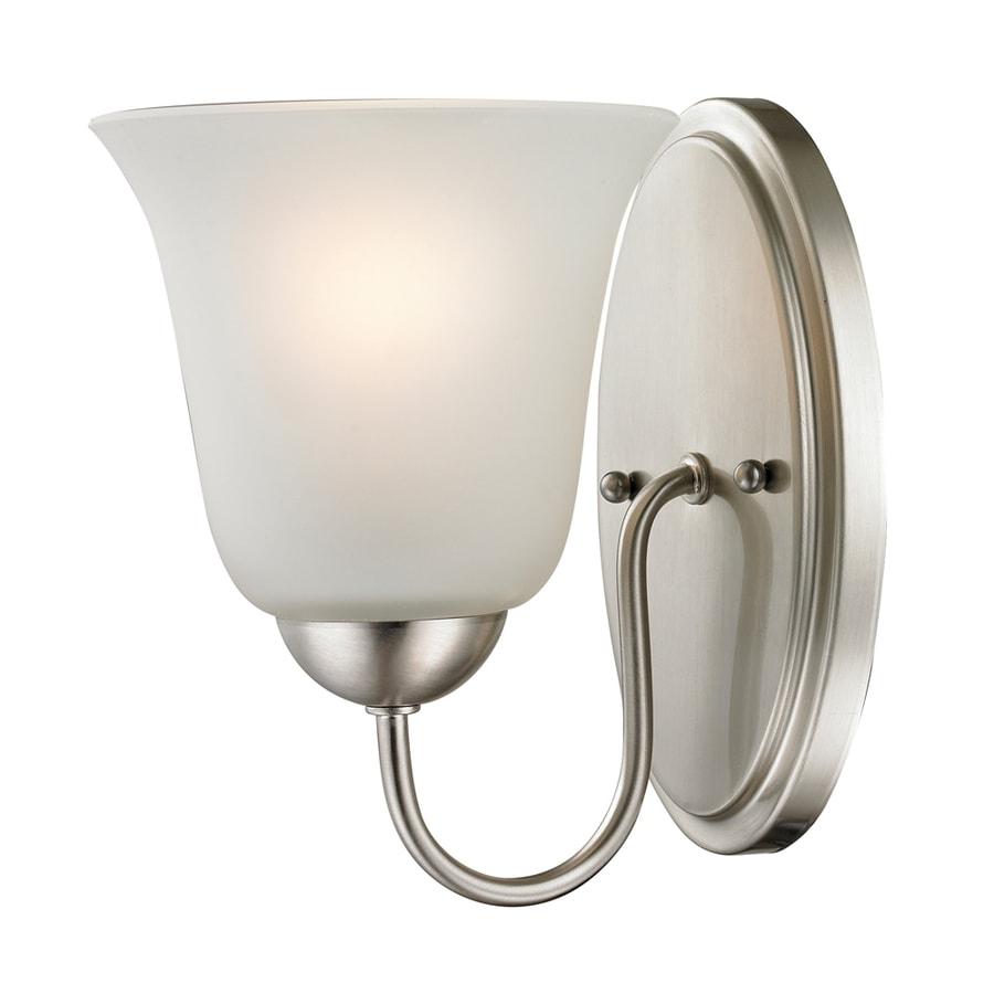Shop Westmore Lighting Ashland 1-Light 9-in Brushed Nickel Bell LED Vanity Light at Lowes.com