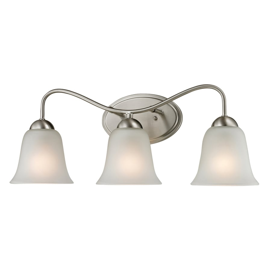 Polished Nickel Bathroom Vanity Light: Shop Westmore Lighting Ashland 3-Light Brushed Nickel Bell