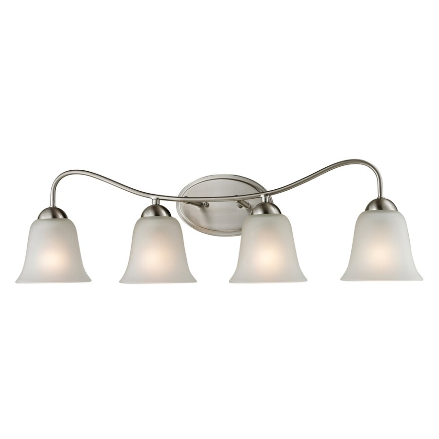 Westmore Lighting Ashland 4-Light 9-in Brushed Nickel Bell Integrated LED Vanity Light