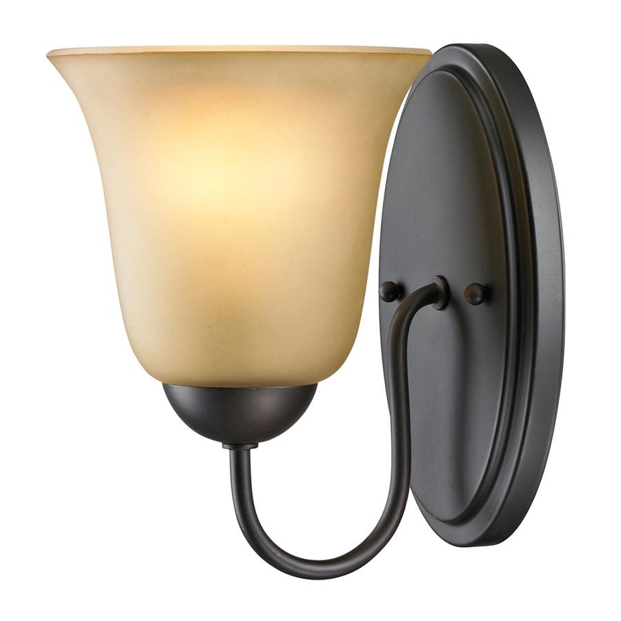 Westmore Lighting Ashland 1-Light 9-in Oil Rubbed Bronze Bell Vanity Light