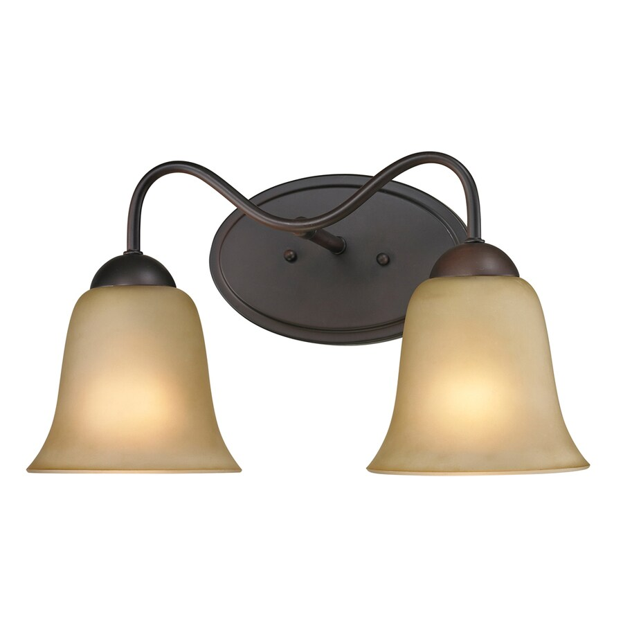 Westmore Lighting Ashland 2-Light 9-in Oil rubbed bronze Bell Vanity Light