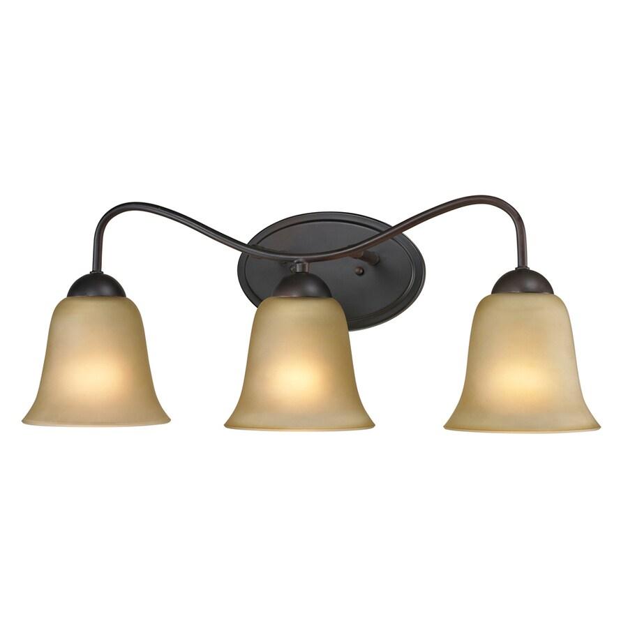 Westmore Lighting Ashland 3-Light 9-in Oil Rubbed Bronze Bell Vanity Light