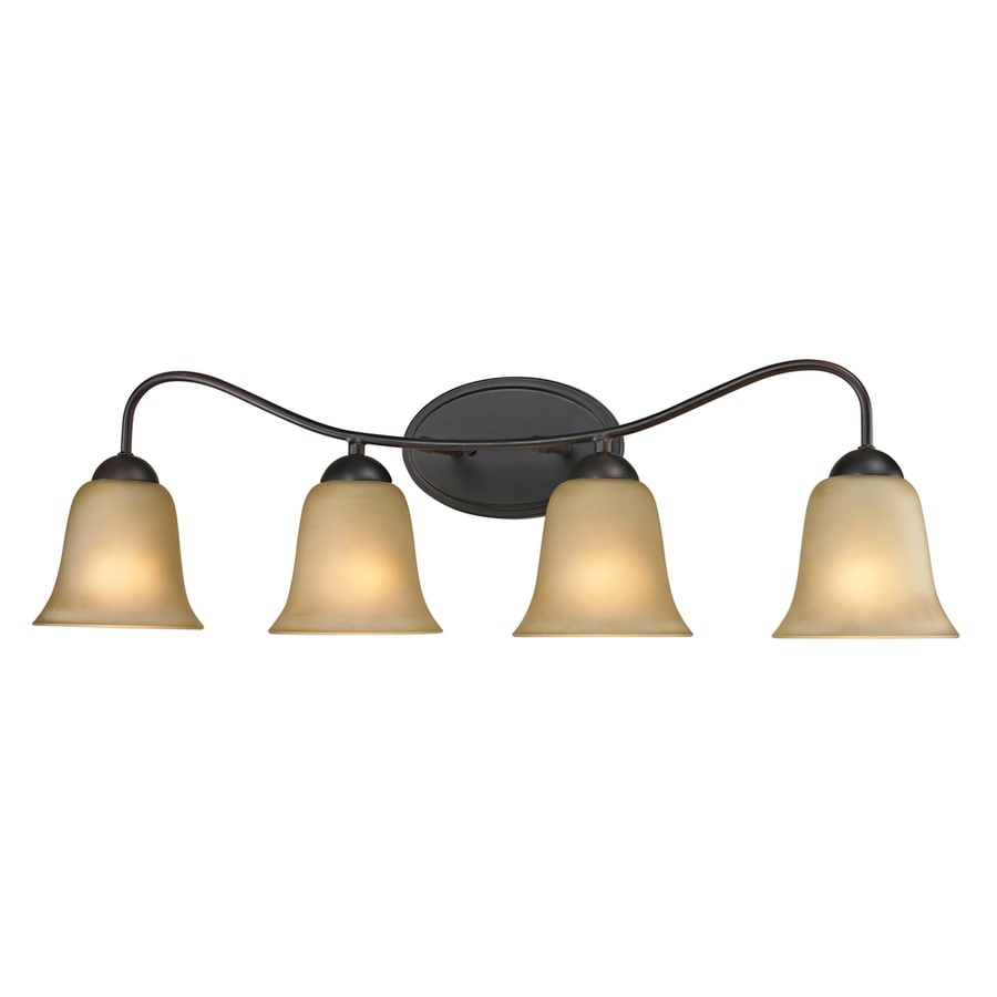 Westmore Lighting Ashland 4-Light 9-in Oil Rubbed Bronze Bell Integrated LED Vanity Light