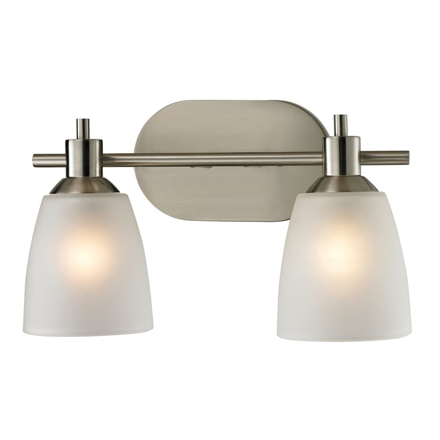 2 Light Vanity Light Brushed Nickel : Shop Westmore Lighting Fillmore 2-Light 9-in Brushed Nickel Oval Vanity Light at Lowes.com