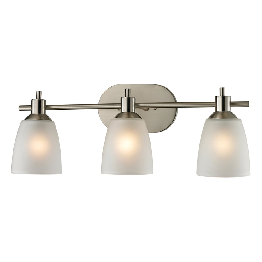 Shop Westmore Lighting Fillmore 3-Light 22-in Brushed Nickel Oval ...