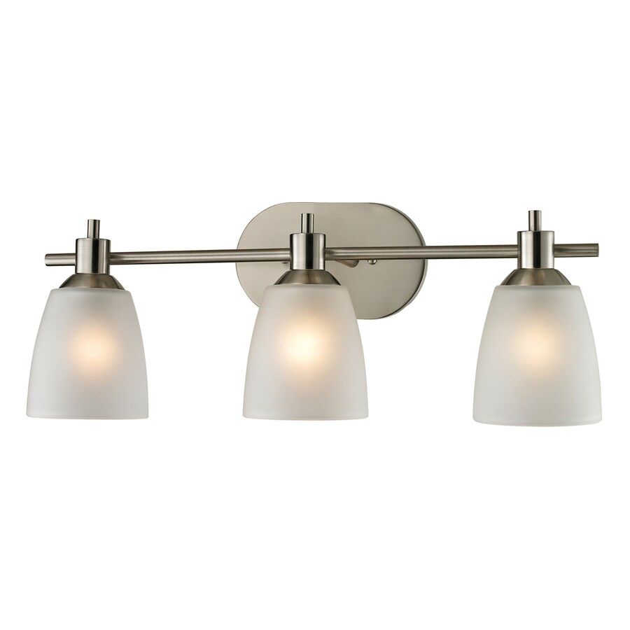 shop westmore lighting fillmore 3 light 22 in brushed nickel oval led vanity light at. Black Bedroom Furniture Sets. Home Design Ideas