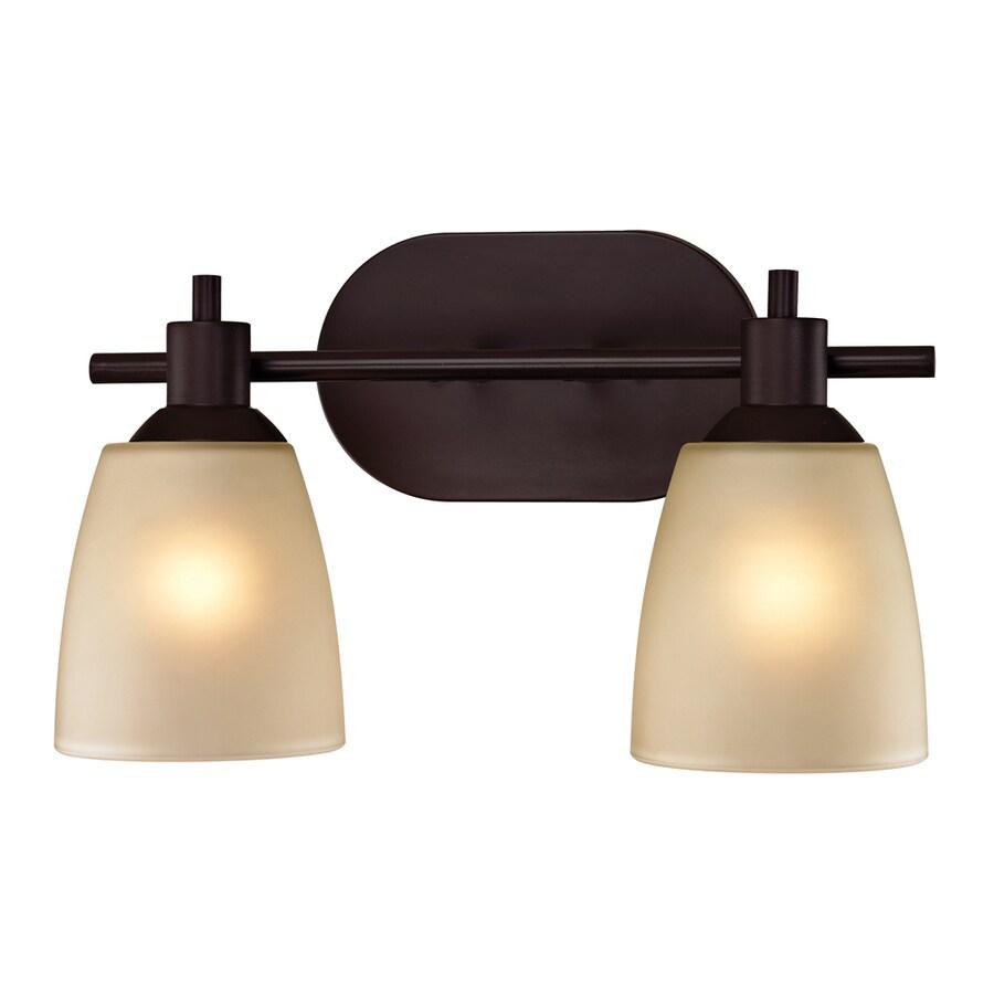 Westmore Lighting Fillmore 2-Light 9-in Oil Rubbed Bronze Oval Vanity Light