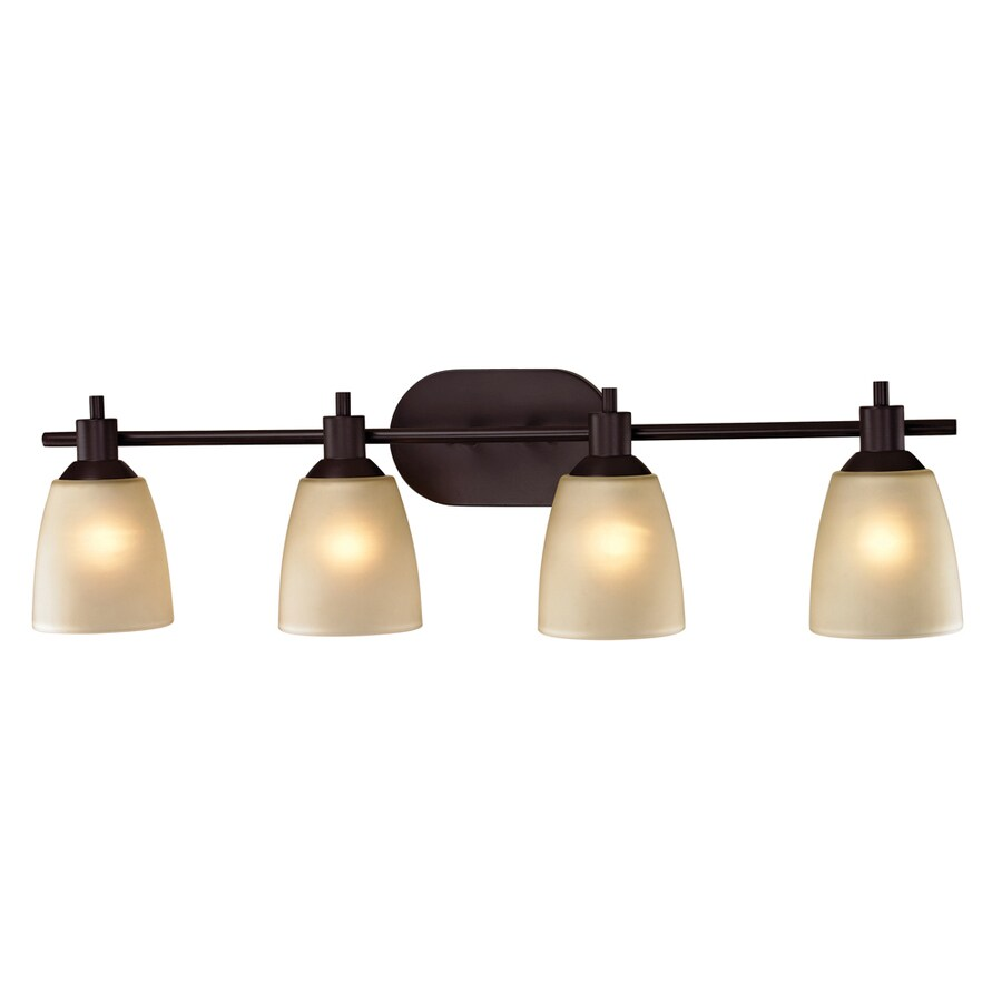 Westmore Lighting Fillmore 4-Light 9-in Oil rubbed bronze Oval Vanity Light