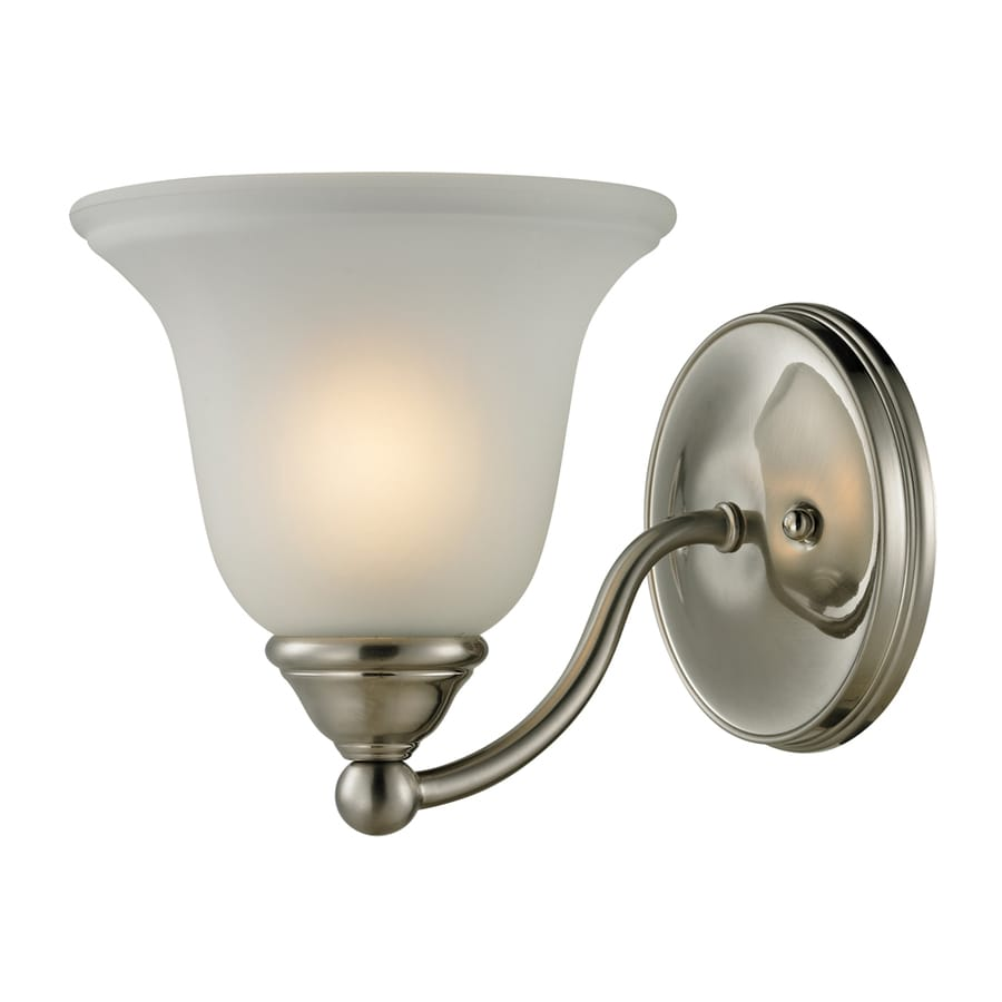 Westmore Lighting Wyndmoor 1-Light 7-in Brushed Nickel Bell Vanity Light