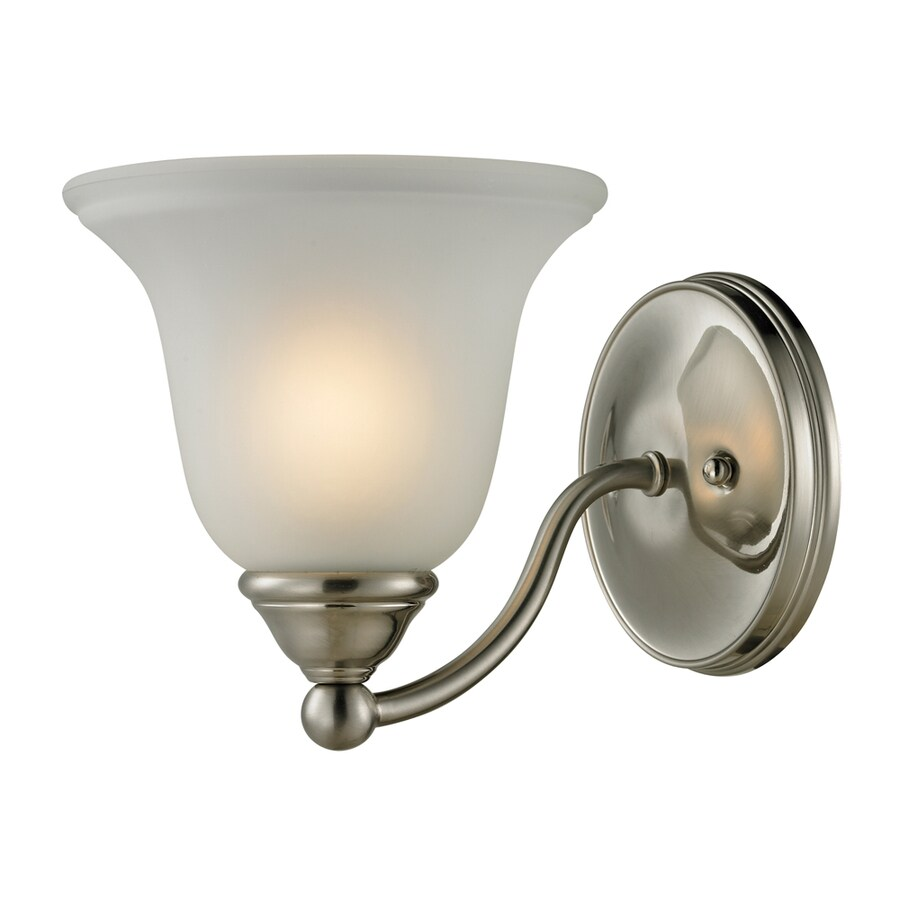 Westmore Lighting Wyndmoor 1-Light 7-in Brushed Nickel Bell LED Vanity Light