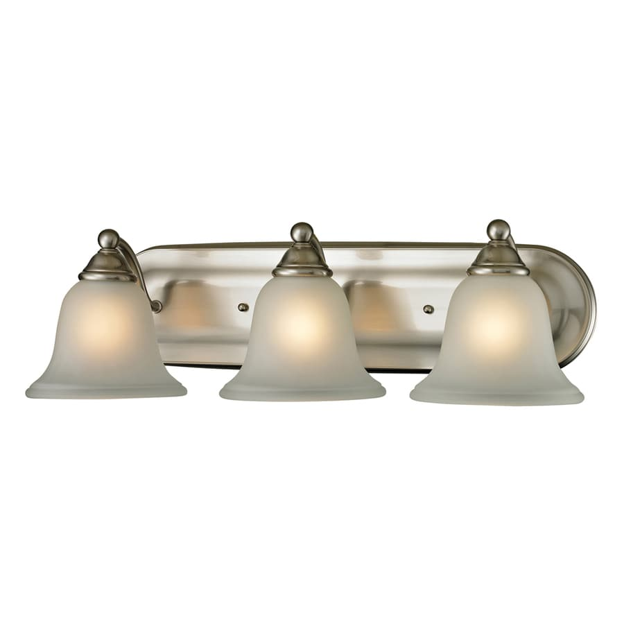 3 Light Vanity Brushed Nickel : Shop Westmore Lighting Wyndmoor 3-Light 6-in Brushed Nickel Bell Vanity Light at Lowes.com