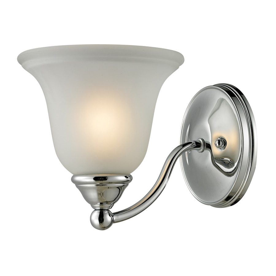 Vanity Lights Chrome : Shop Westmore Lighting Wyndmoor 1-Light 7-in Chrome Bell Vanity Light at Lowes.com