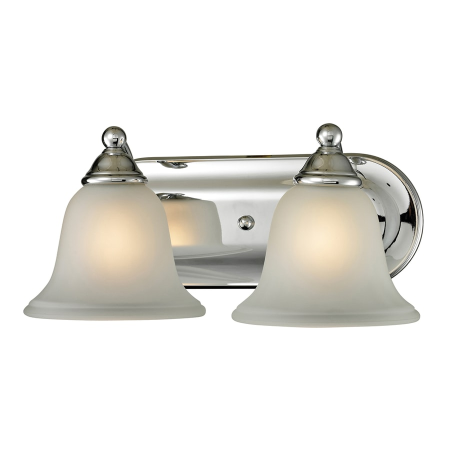 Vanity Lights Chrome : Shop Westmore Lighting Wyndmoor 2-Light 6-in Chrome Bell Vanity Light at Lowes.com