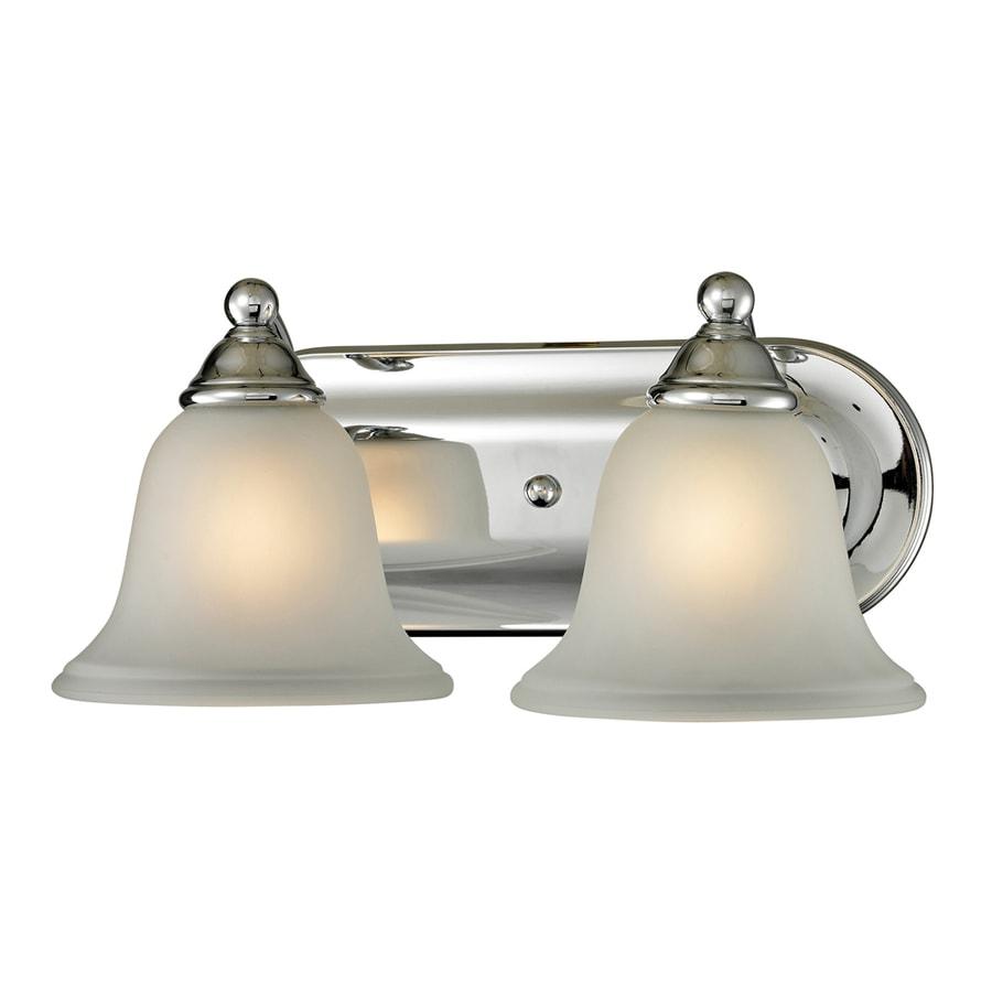 Westmore Lighting Wyndmoor 2-Light 6-in Chrome Bell LED Vanity Light