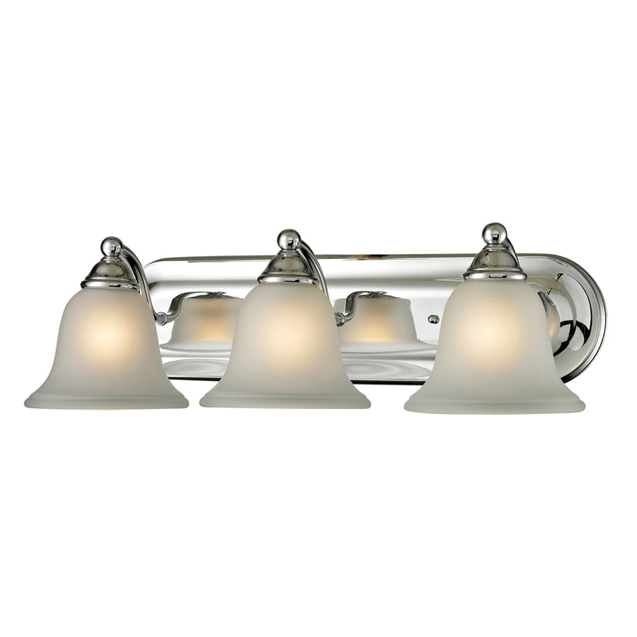 Westmore Lighting Wyndmoor 3-Light Chrome Bell LED Vanity Light