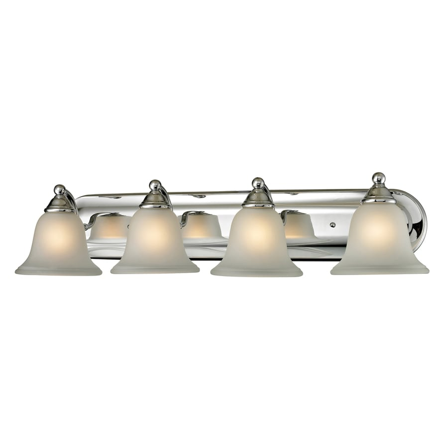 Westmore Lighting Wyndmoor 4-Light 6-in Chrome Bell Integrated LED Vanity Light