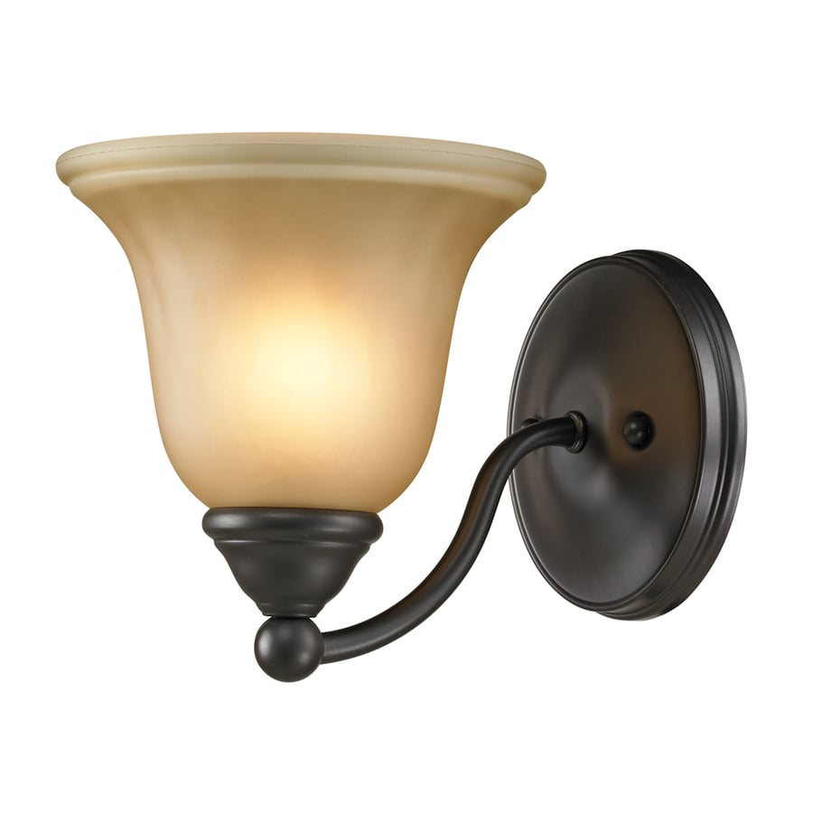 Westmore Lighting Wyndmoor 1-Light 7-in Oil Rubbed Bronze Bell Vanity Light
