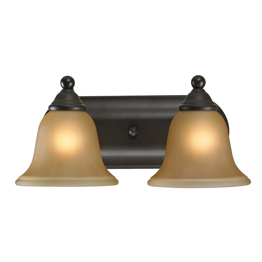 Westmore Lighting Wyndmoor 2-Light 6-in Oil Rubbed Bronze Bell Vanity Light