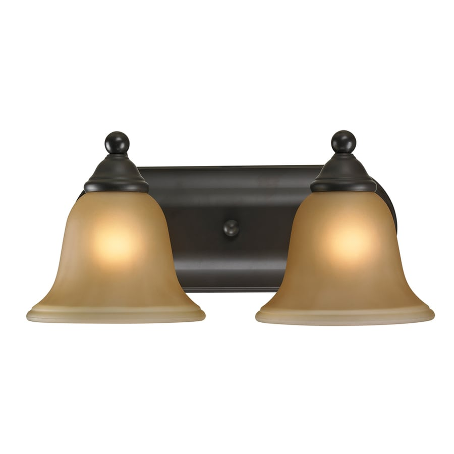 Vanity Lights In Oil Rubbed Bronze : Shop Westmore Lighting Wyndmoor 2-Light 6-in Oil Rubbed Bronze Bell Vanity Light at Lowes.com