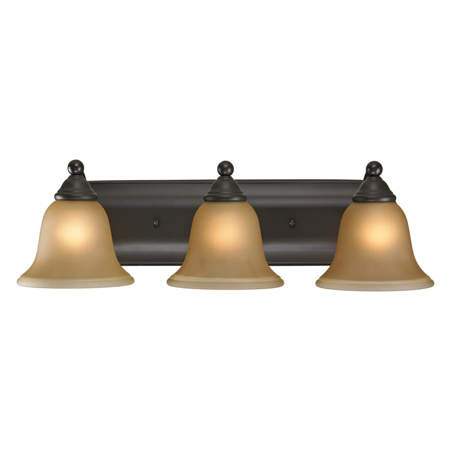 Westmore Lighting Wyndmoor 3-Light 6-in Oil Rubbed Bronze Bell Vanity Light