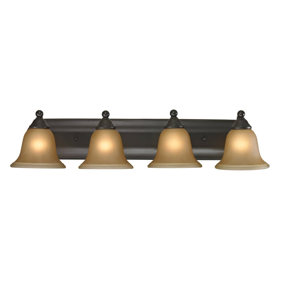 Westmore Lighting Wyndmoor 4-Light 6-in Oil Rubbed Bronze Bell LED Vanity Light