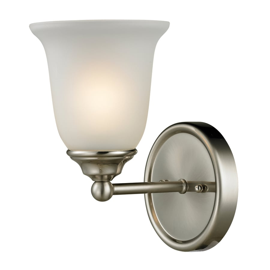 Westmore Lighting Landisville 1-Light 10-in Brushed nickel Bell Vanity Light