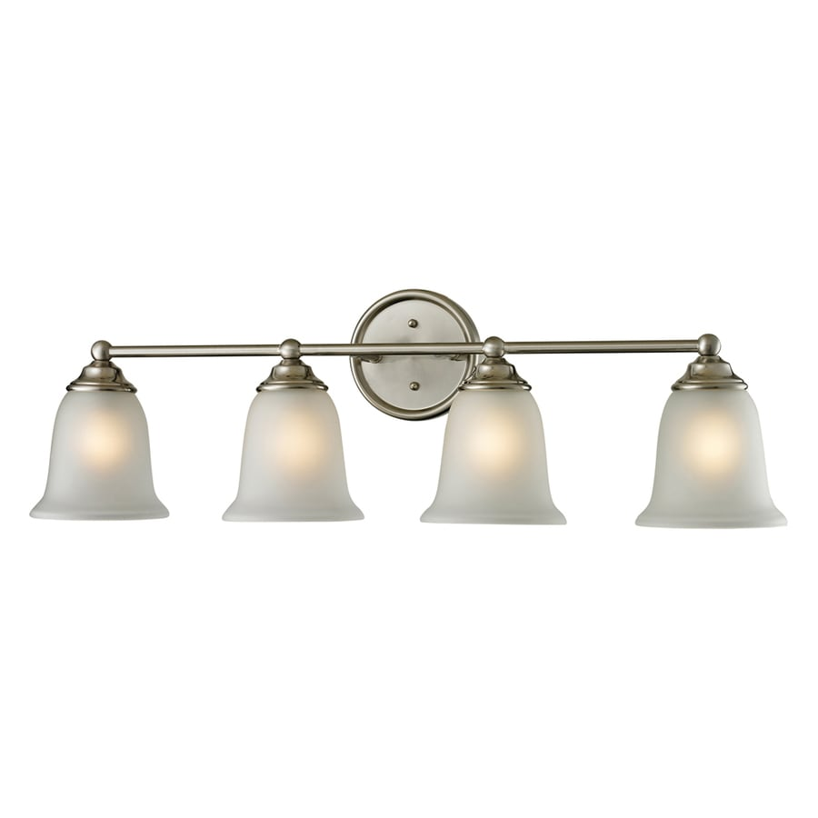 Westmore Lighting Landisville 4-Light 10-in Brushed Nickel Bell LED Vanity Light