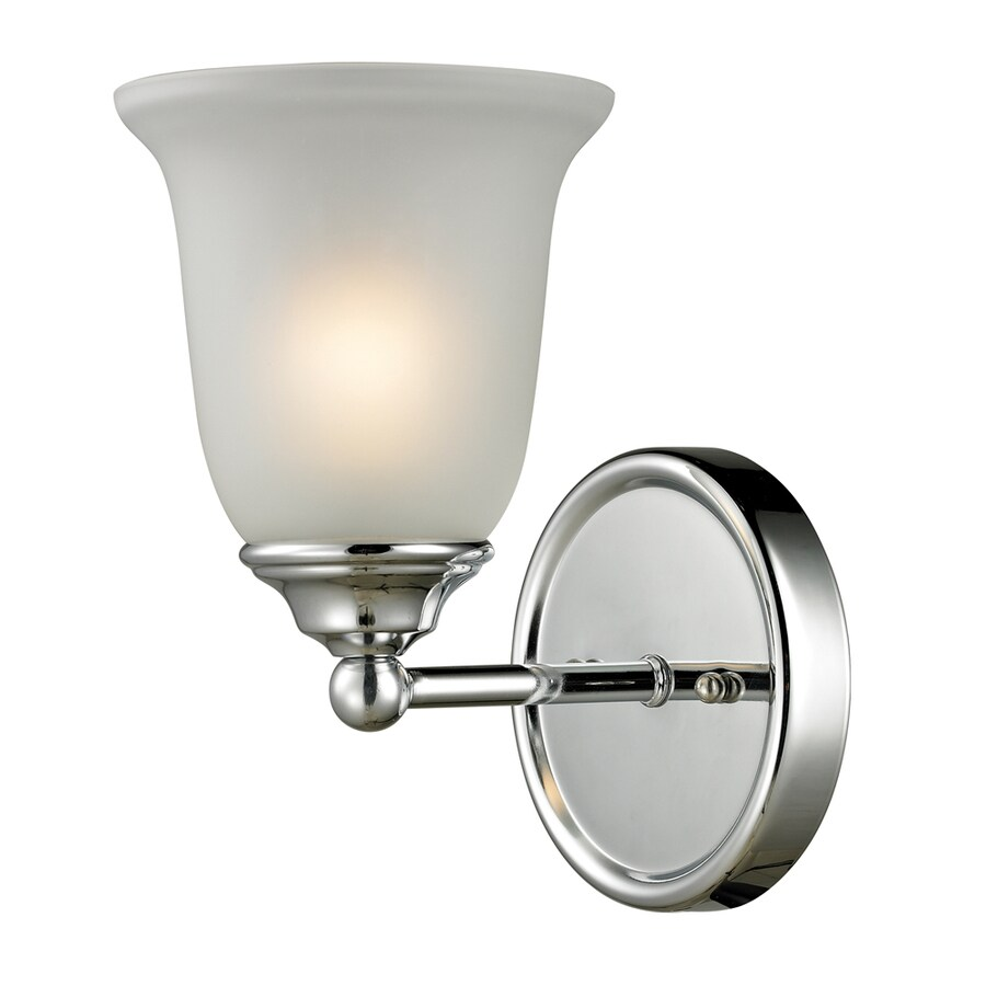 Westmore Lighting Landisville 1-Light 10-in Chrome Bell Vanity Light