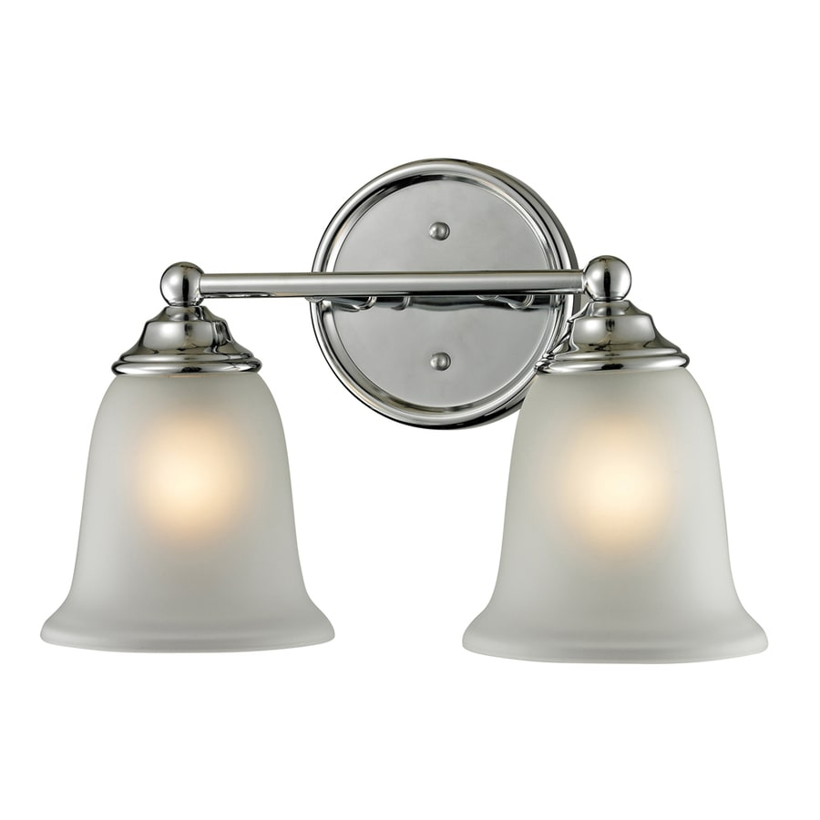 Westmore Lighting Landisville 2-Light 10-in Chrome Bell Vanity Light