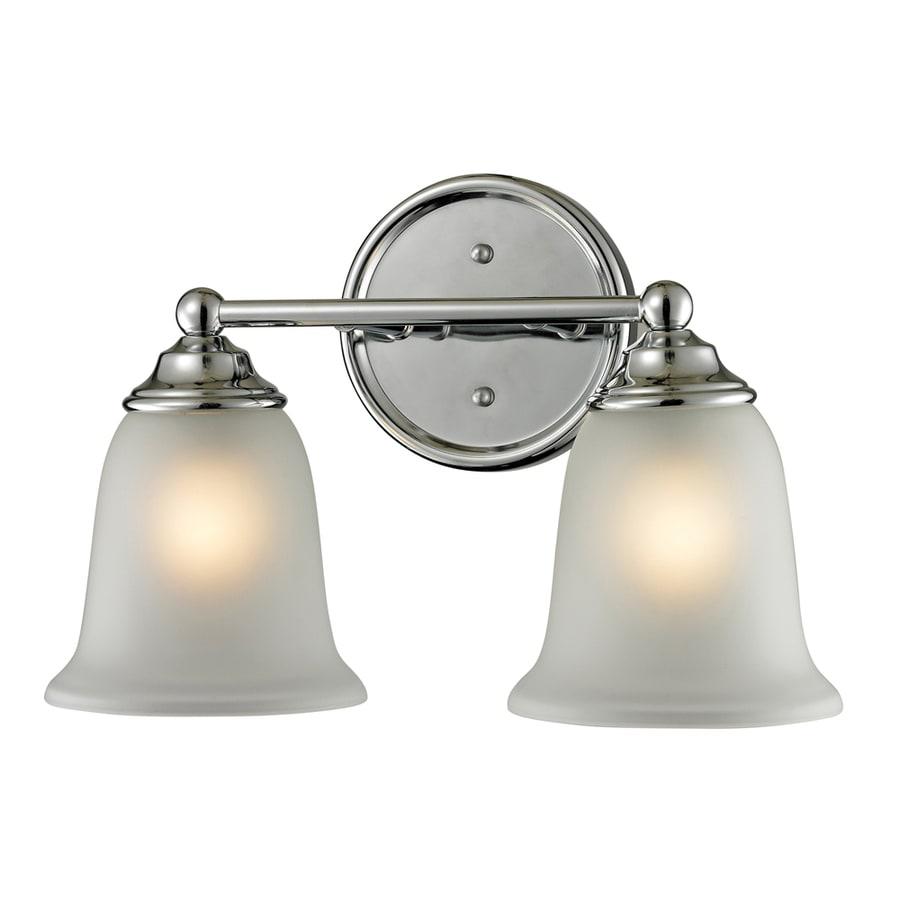 Westmore Lighting Landisville 2-Light 10-in Chrome Bell Integrated LED Vanity Light