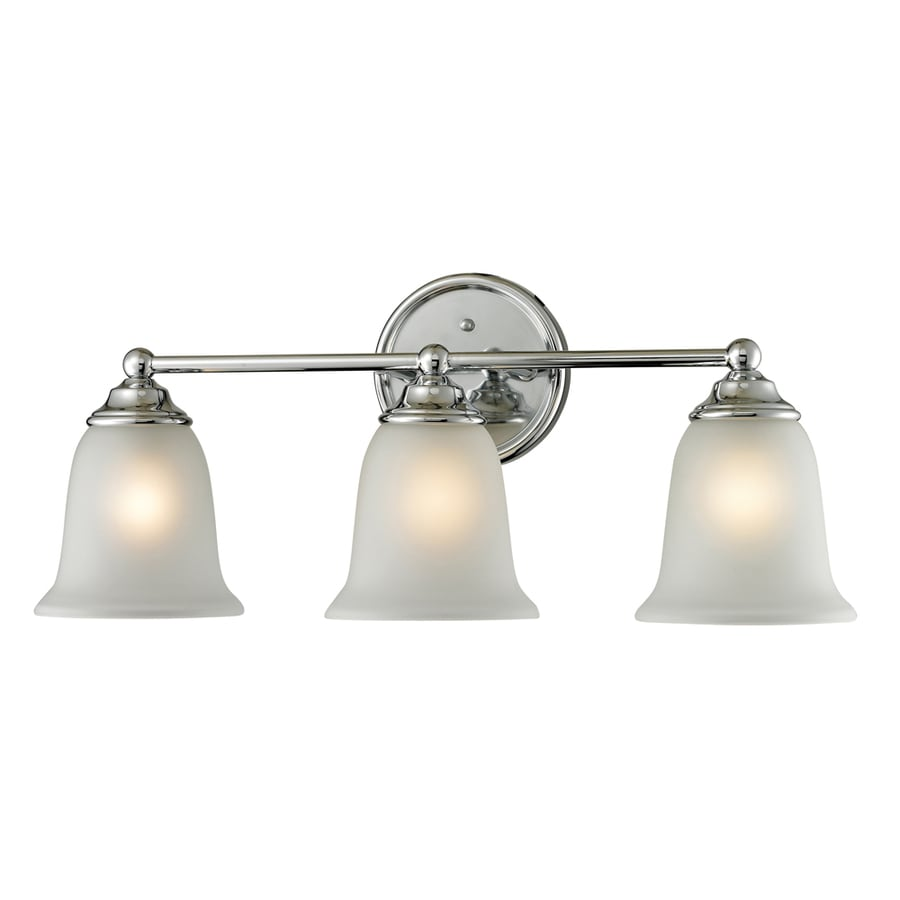 Westmore Lighting Landisville 3-Light 10-in Chrome Bell Vanity Light