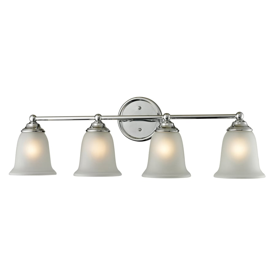 Westmore Lighting Landisville 4-Light 10-in Chrome Bell LED Vanity Light