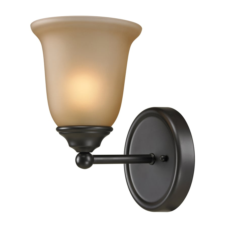 Westmore Lighting Landisville 1-Light 10-in Oil rubbed bronze Bell Vanity Light