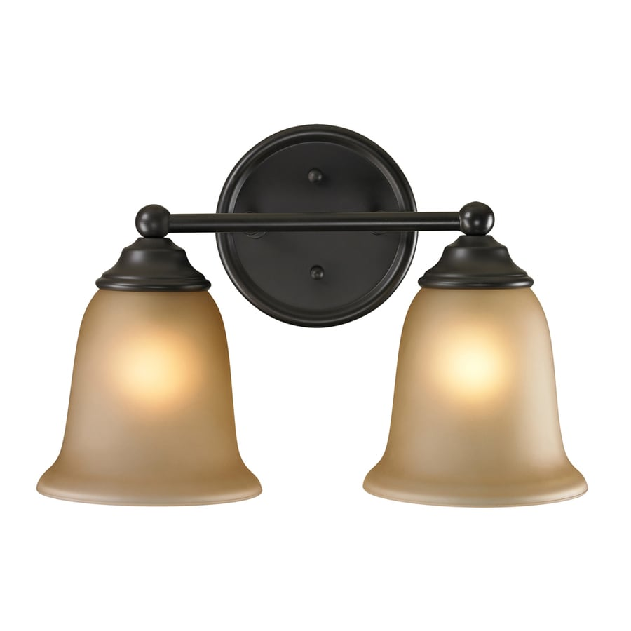 Westmore Lighting Landisville 2-Light 10-in Oil Rubbed Bronze Bell LED Vanity Light