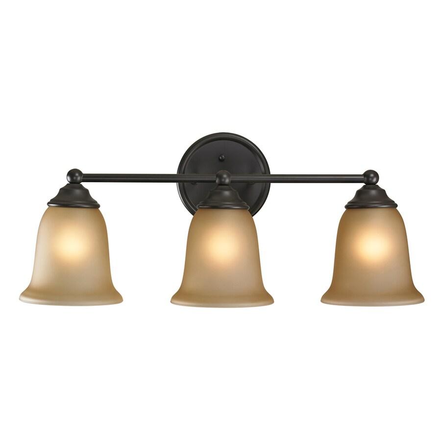 Westmore Lighting Landisville 3-Light 10-in Oil rubbed bronze Bell Vanity Light