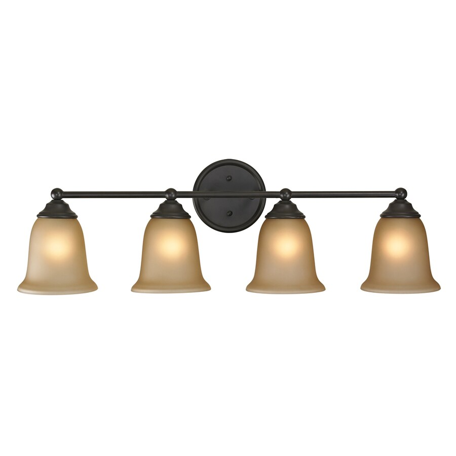 Westmore Lighting Landisville 4-Light 10-in Oil rubbed bronze Bell Vanity Light