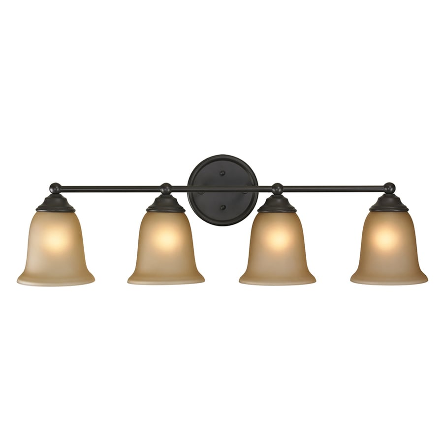 Westmore Lighting Landisville 4-Light 10-in Oil rubbed bronze Bell LED Vanity Light