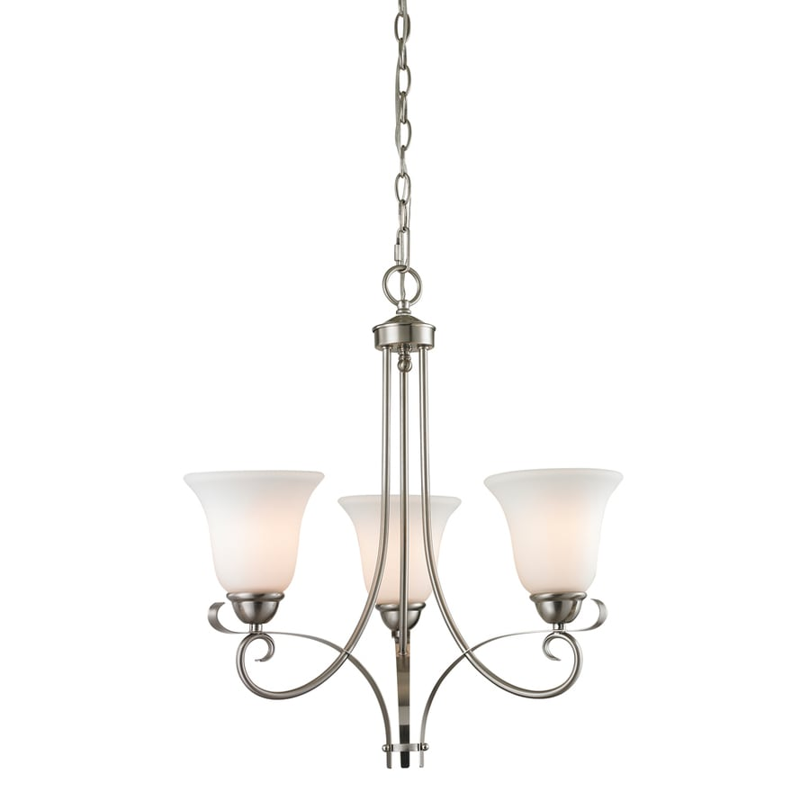 Westmore Lighting Colchester 20-in 7-Light Brushed Nickel Tinted Glass Shaded Chandelier