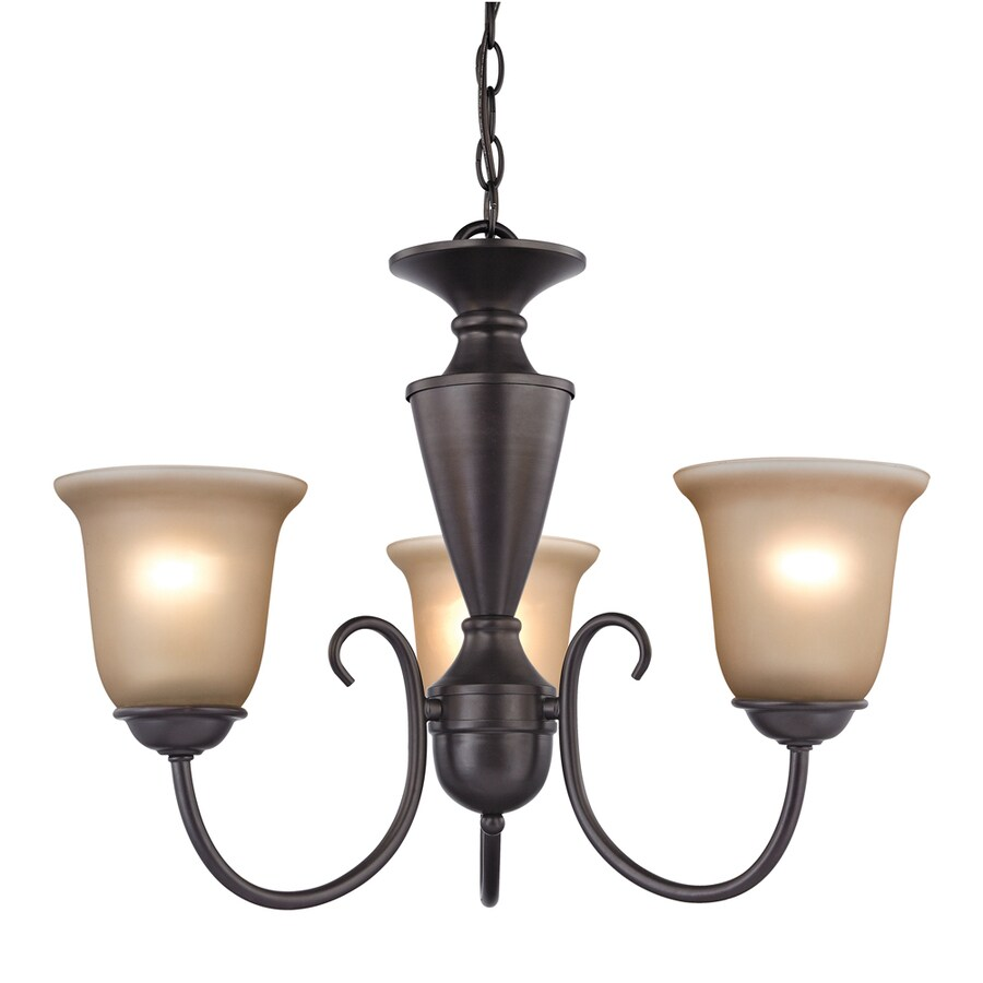 Westmore Lighting Bellwood 23-in 5-Light Oil Rubbed Bronze Tinted Glass Candle Chandelier