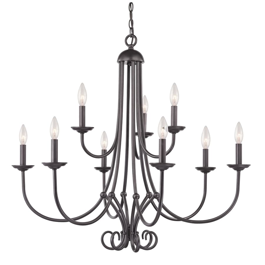 Westmore Lighting Weatherly 34-in 9-Light Oil-Rubbed Bronze Candle Chandelier