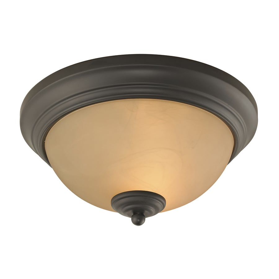 Westmore Lighting 11-in W Oil Rubbed Bronze Flush Mount Light