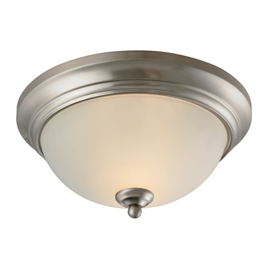 Westmore Lighting 11-in W Brushed nickel LED Flush Mount Light