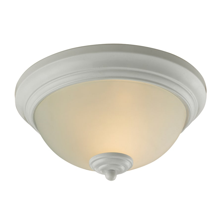 Westmore Lighting 11-in W White Standard Flush Mount Light